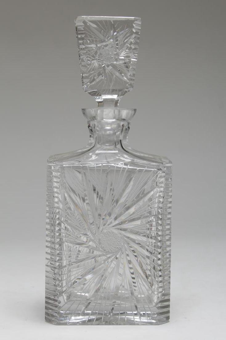 Vintage Crystal Decanters, Pinwheel-Cut, 3 Pcs - 4