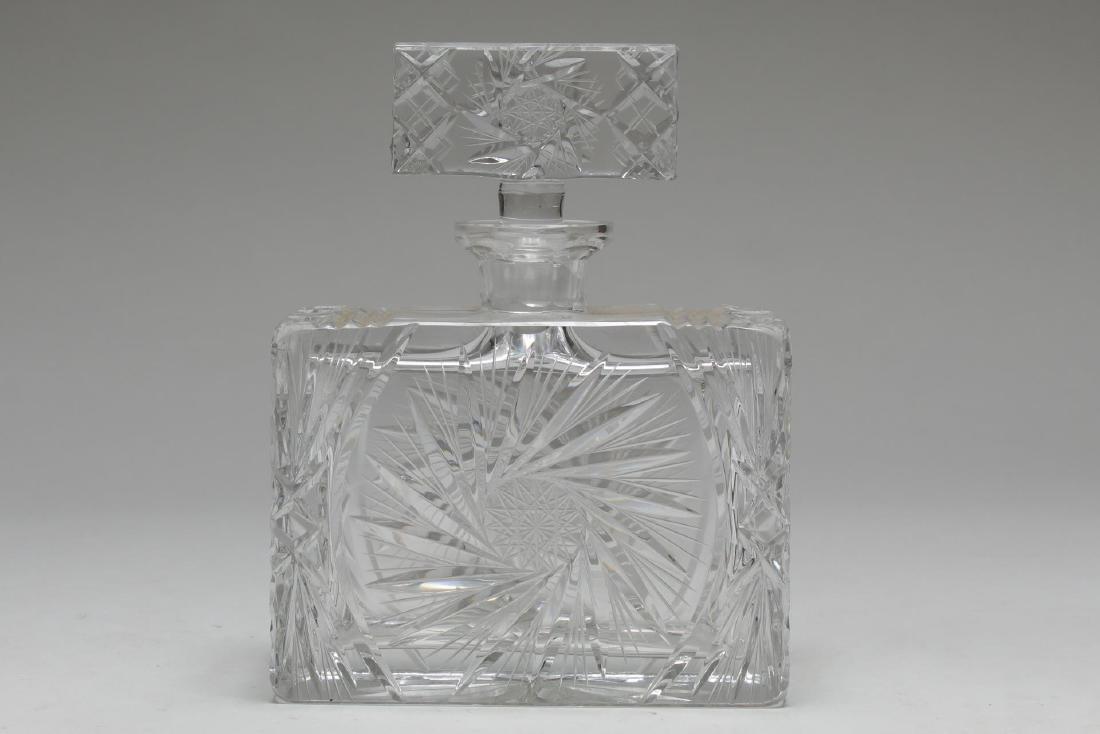 Vintage Crystal Decanters, Pinwheel-Cut, 3 Pcs - 6
