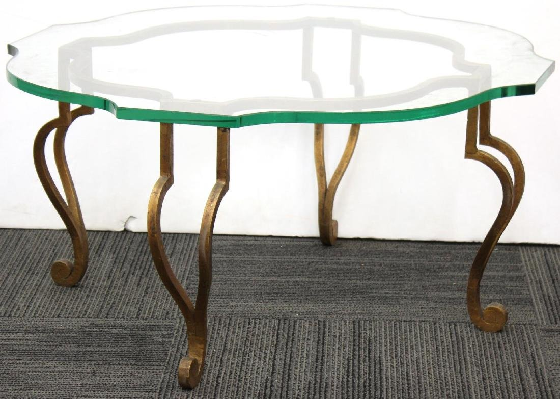 Maison Ramsay Coffee Table, Gilt Brass & Glass