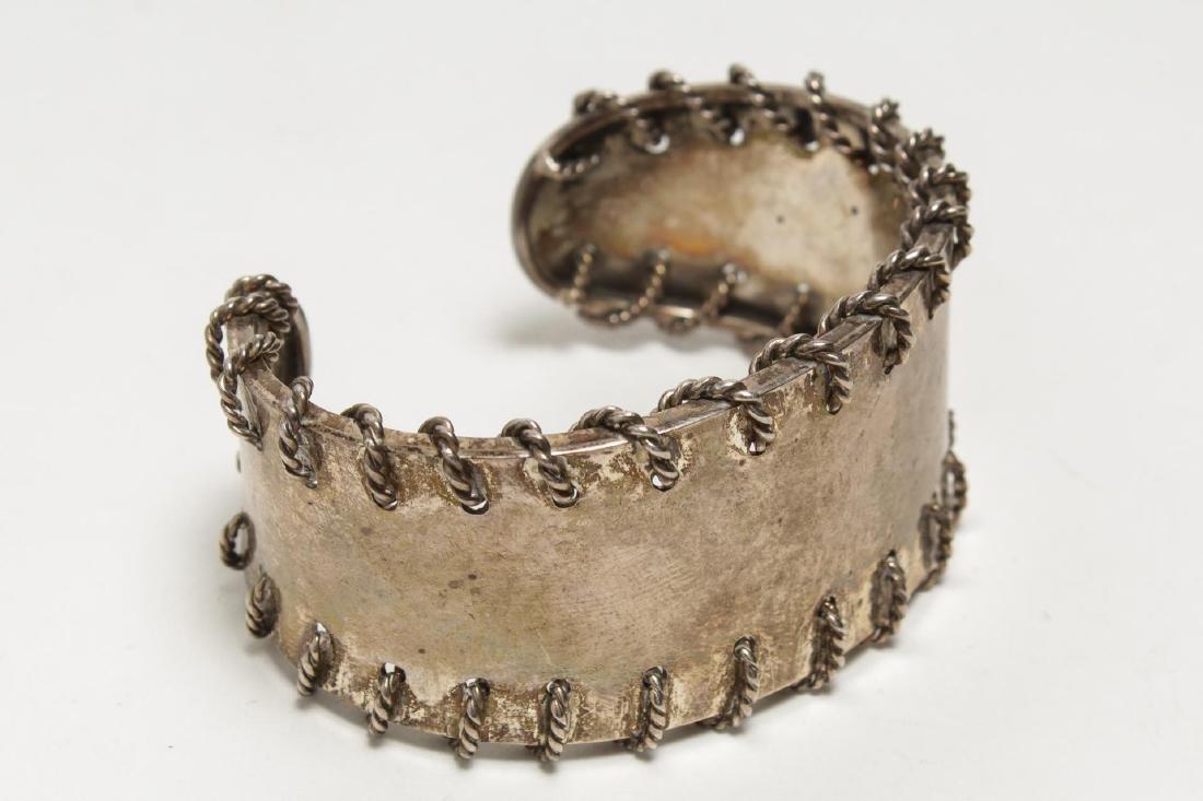 Bracelets, Silver & Silver-Tone Metal, Group of 4 - 5