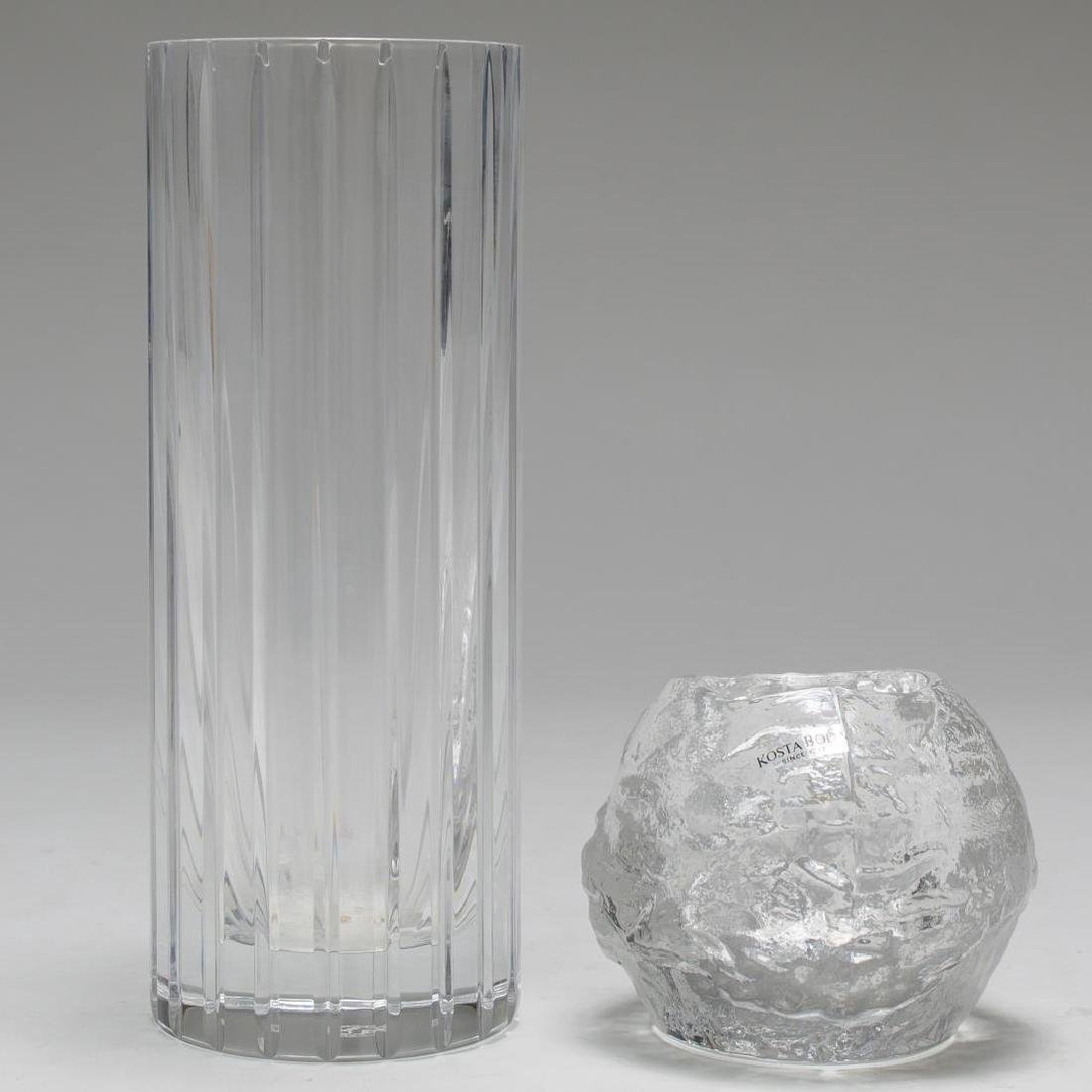 Baccarat Crystal Vase & Kosta Boda Votive Holder