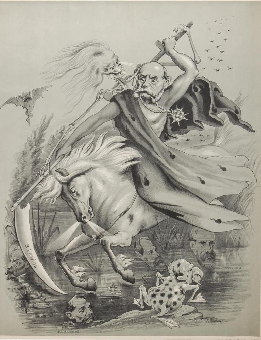 French Political Cartoon, 19th C. En Grisaille