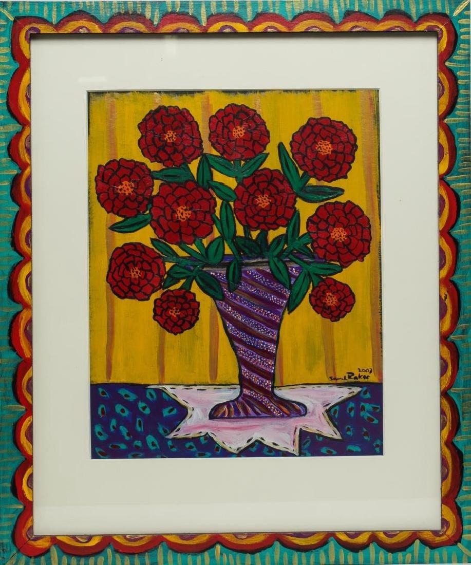 Sarah Rakes (American, b. 1955)- Acrylic on Paper