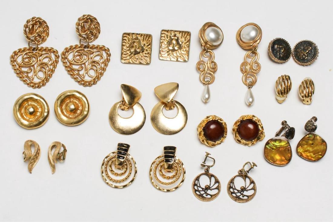 Costume Jewelry Earrings, Gold-Tone Metal, 12 Pair