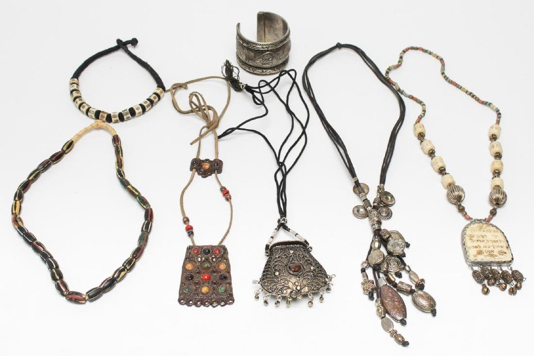 Tribal & Middle Eastern Necklaces & Bracelet, 7 Pc