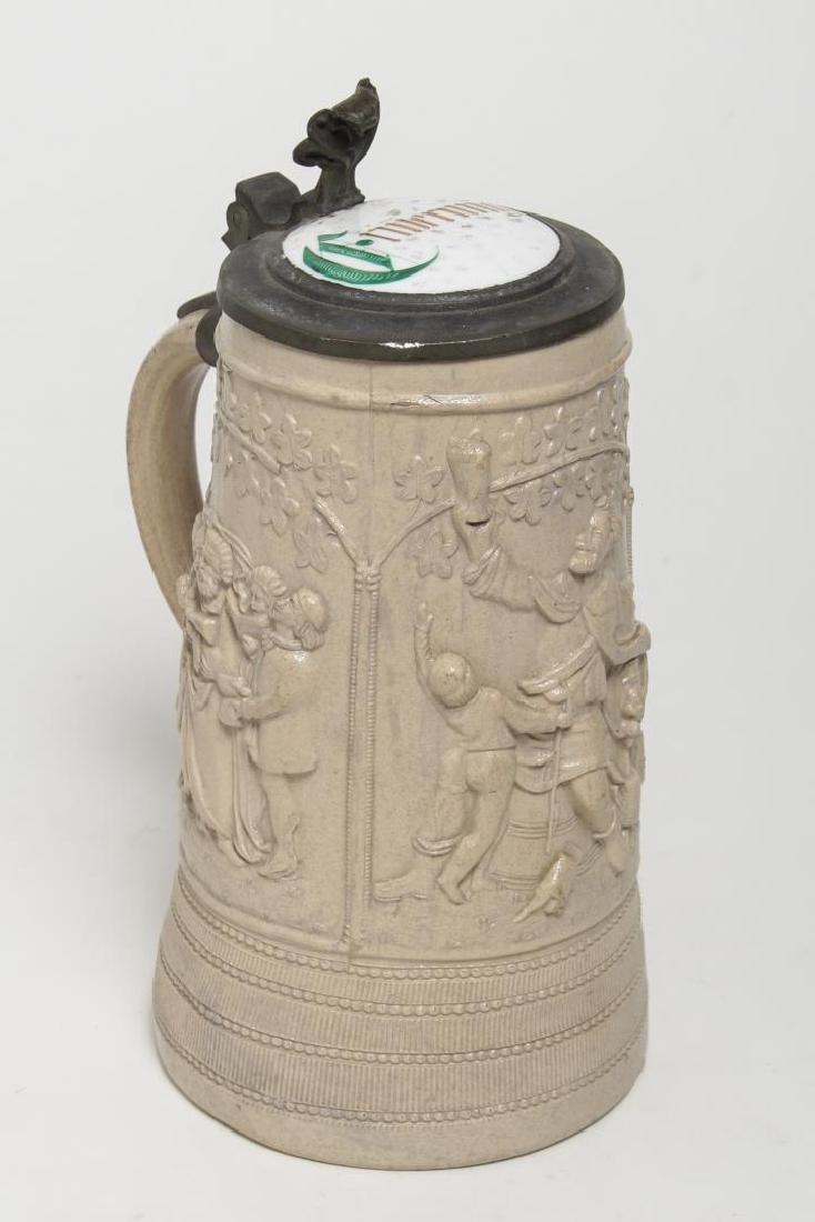 """German Stein, Salt-Glazed Stoneware, """"Remembrance"""""""
