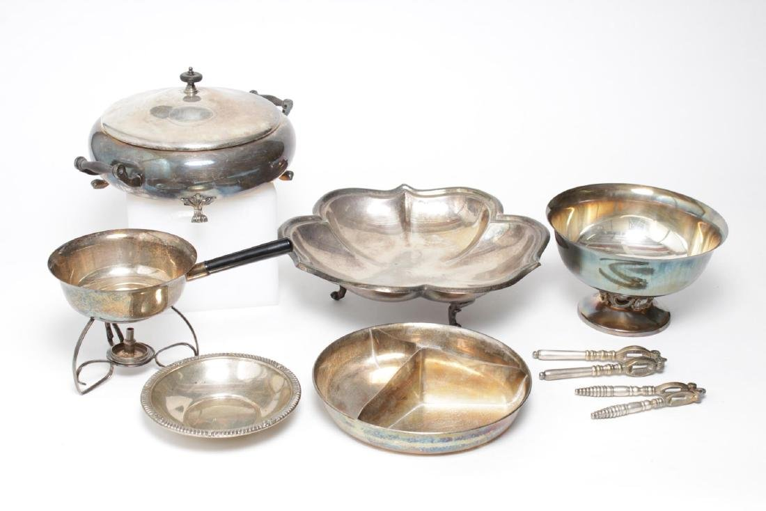Silver-Plate Serving Items, English & American, 8