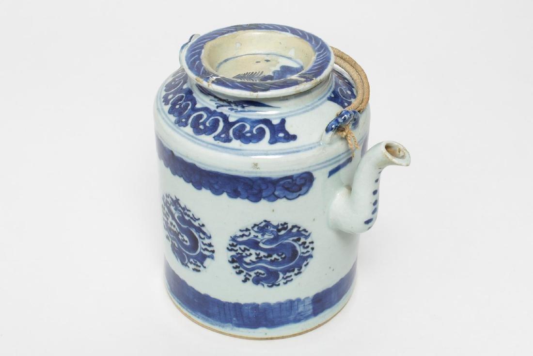 Japanese Blue & White Porcelain Teapot