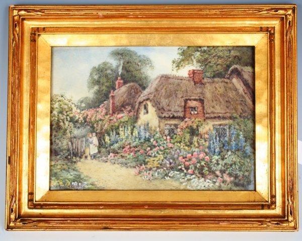 3: Hetty Richards Watercolor Garden Scene