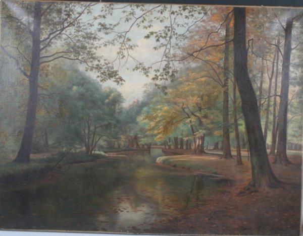 5: Adolf Larssen Danish Oil on Canvas Landscape c1919