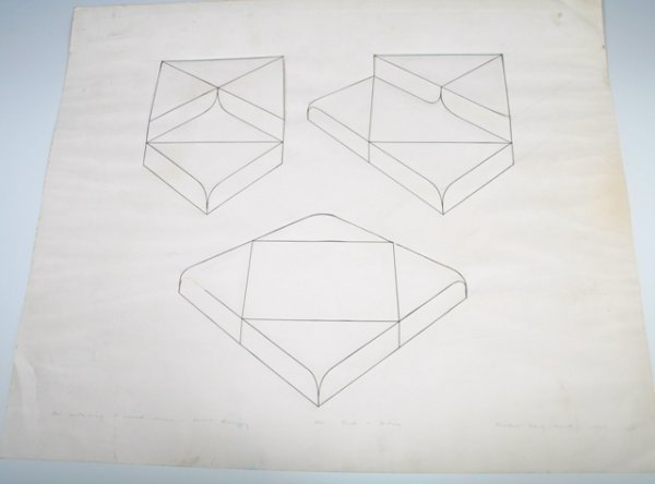 7: Michael Craig Martin 3-Container Relief Drawing c 19