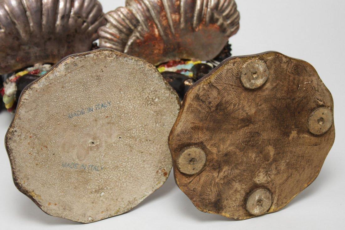 Italian Venetian Polychrome Wood Blackamoors, Pair - 6