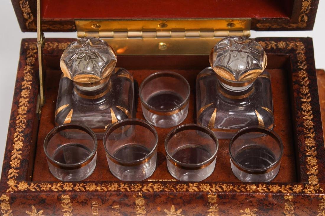 French Tantalus Liquor Set, False-Book Form - 4