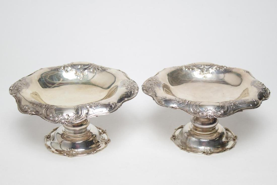 Antique Gorham Sterling Silver Tazzas, Pair, 1896