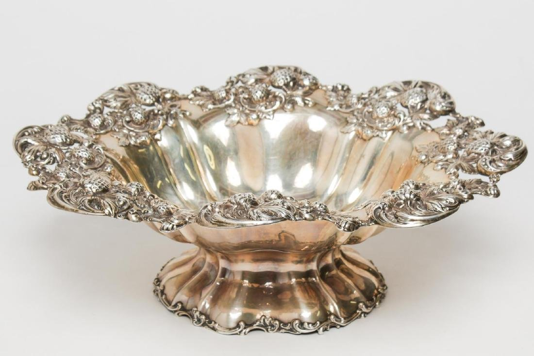 "Mauser Sterling Silver ""Strawberry"" Serving Bowl"