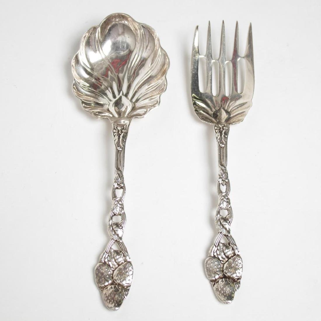Sterling Silver Strawberry Serving Utensils, 2