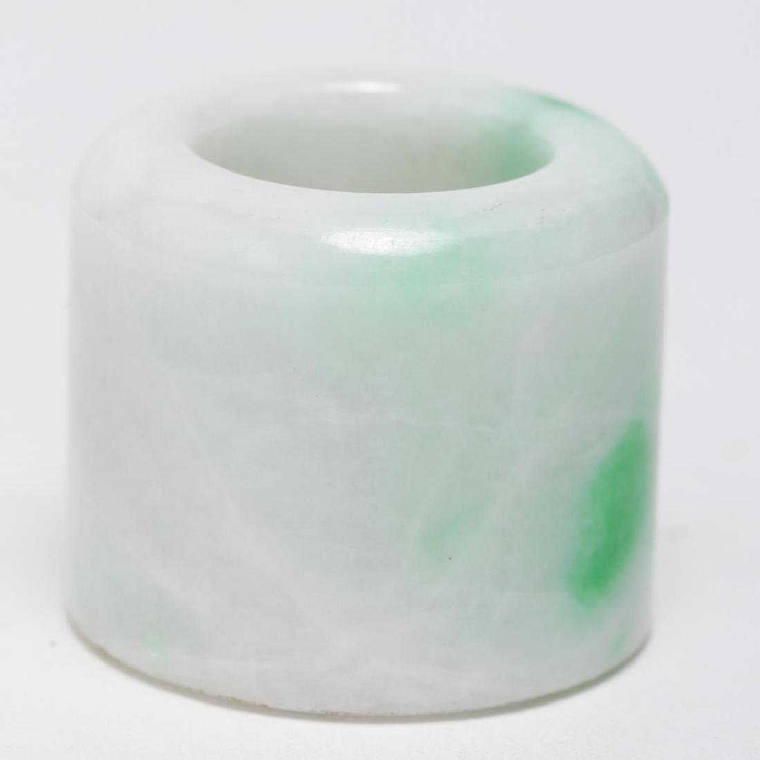 Chinese Mottled Jade Archer's or Thumb Ring, Man's - 2