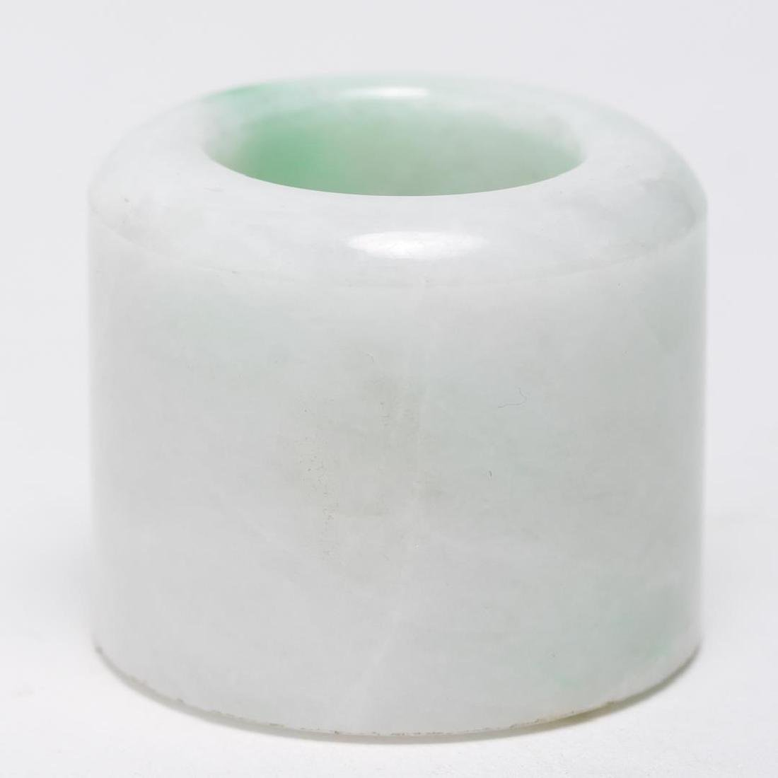 Chinese Mottled Jade Archer's or Thumb Ring, Man's - 3