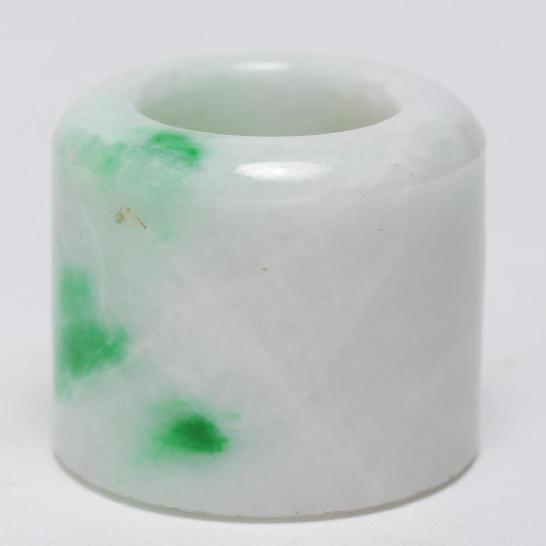 Chinese Mottled Jade Archer's or Thumb Ring, Man's - 4