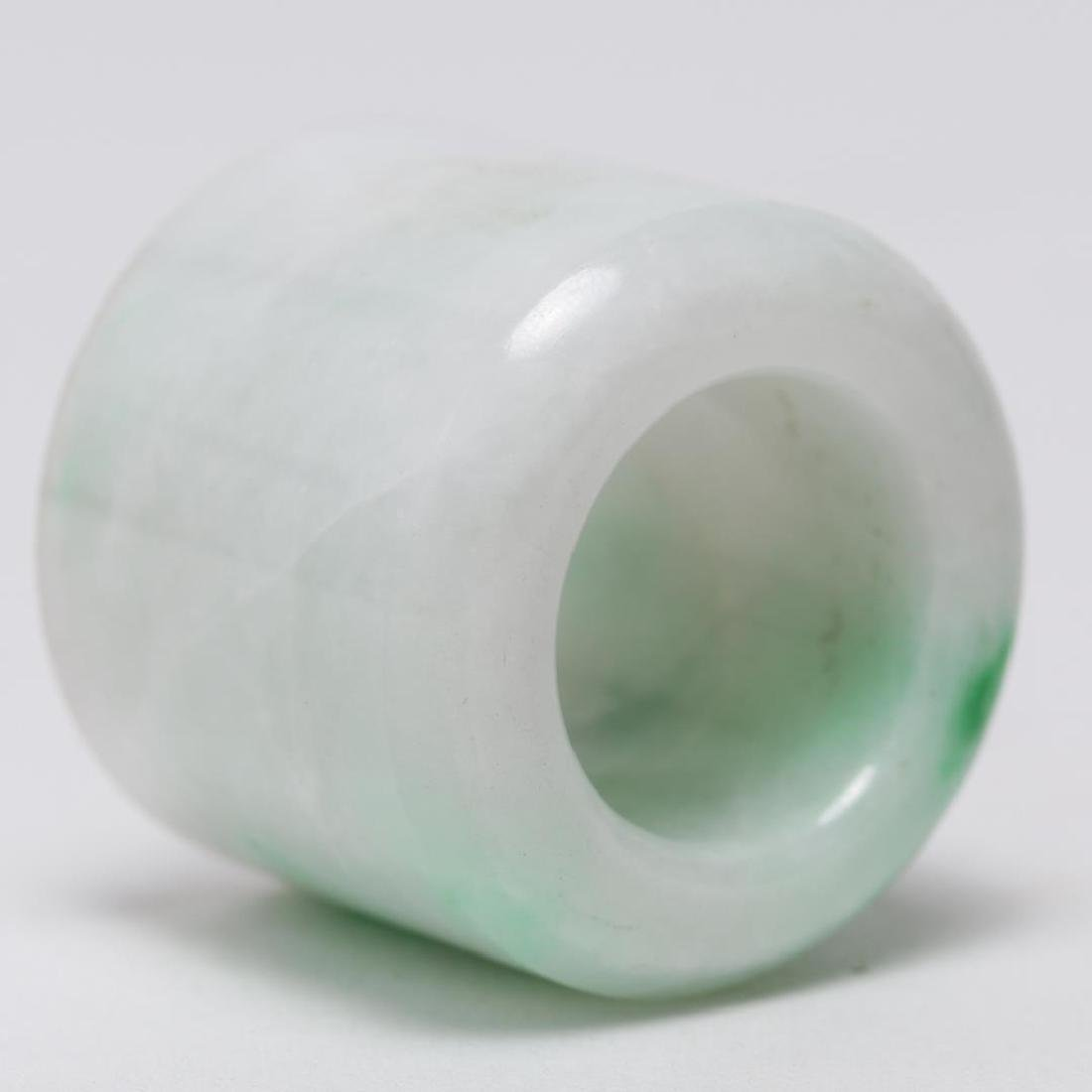 Chinese Mottled Jade Archer's or Thumb Ring, Man's - 5