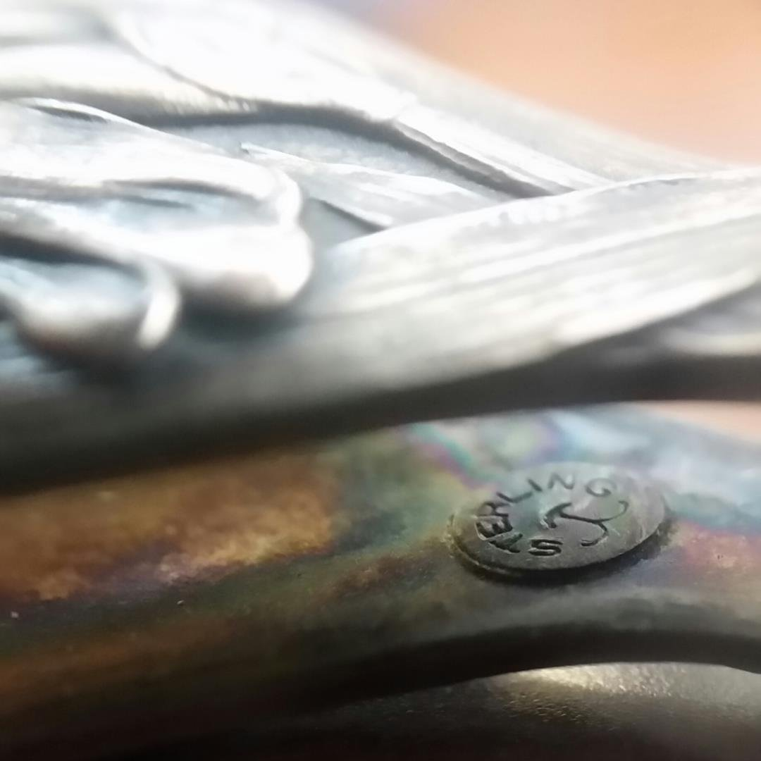 Art Nouveau Silver Lorgnette, American Sterling - 4