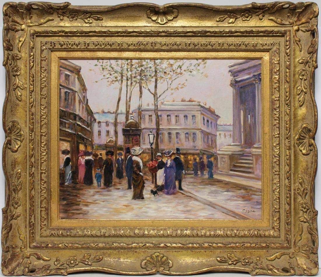 E.J. Cygne (French, b. 1929)- Oil on Canvas