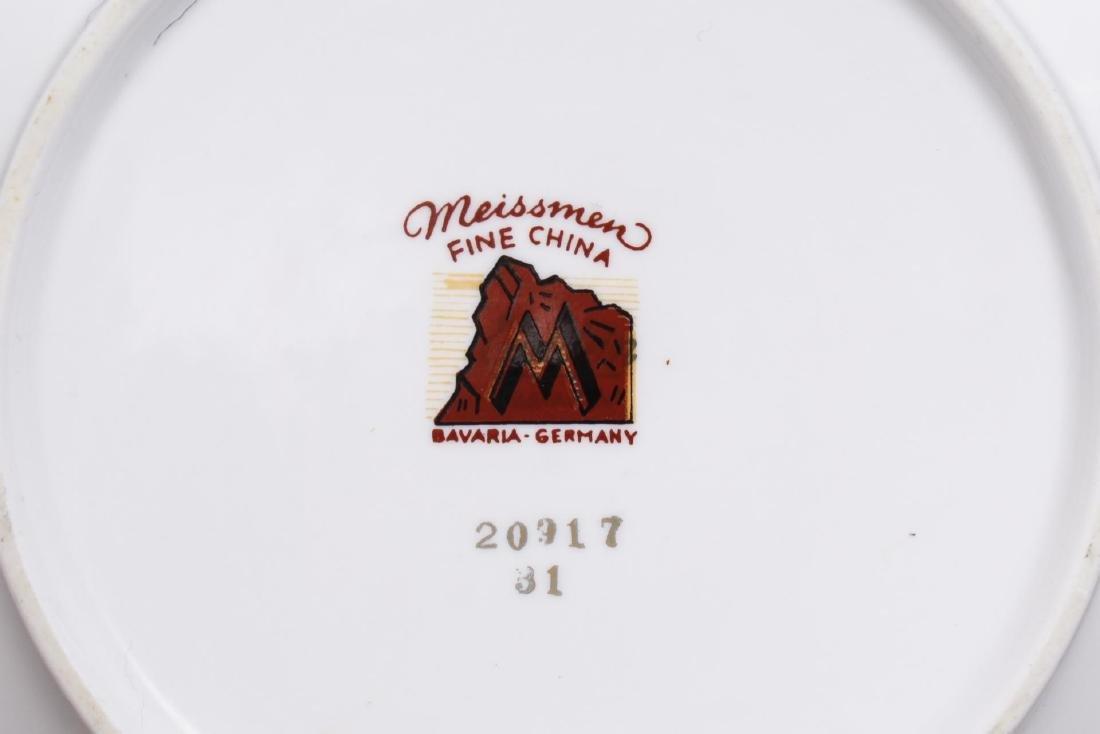 Meissmen German Gilt & White Porcelain Service - 10