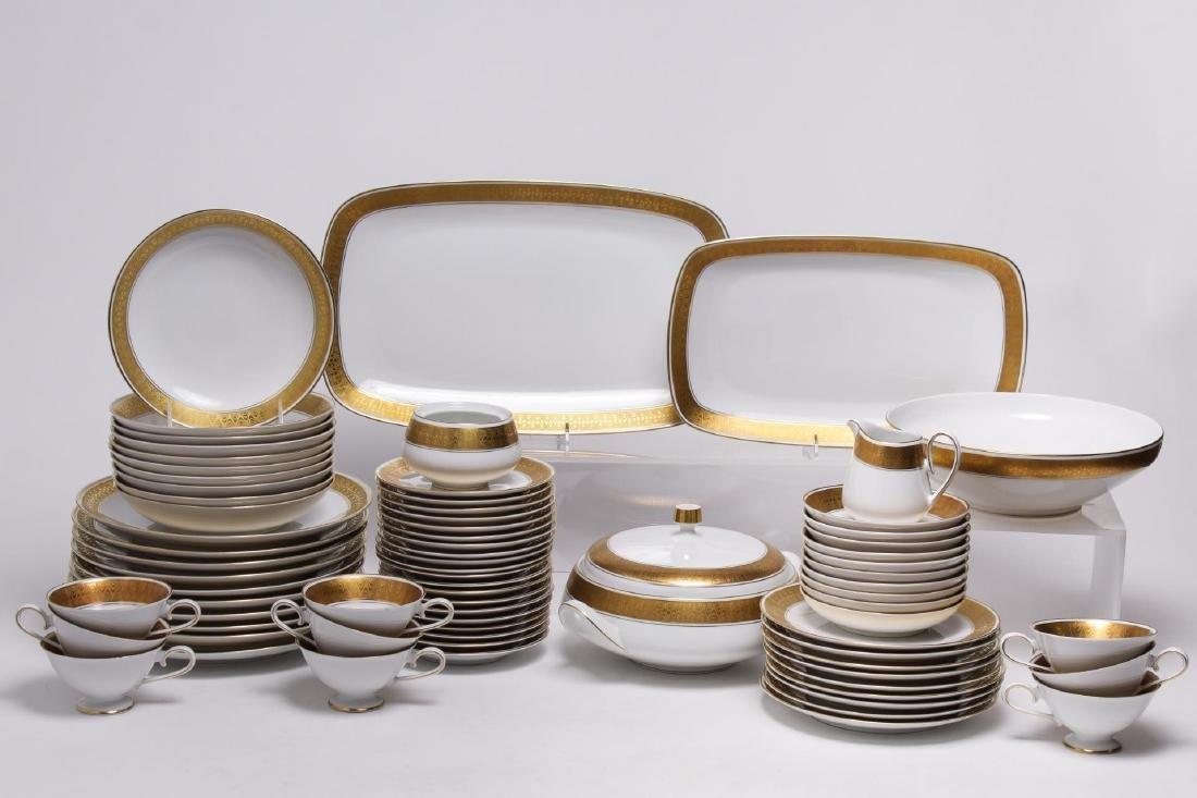 Meissmen German Gilt & White Porcelain Service