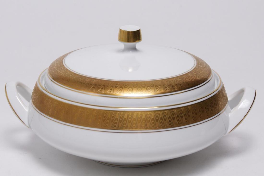 Meissmen German Gilt & White Porcelain Service - 2
