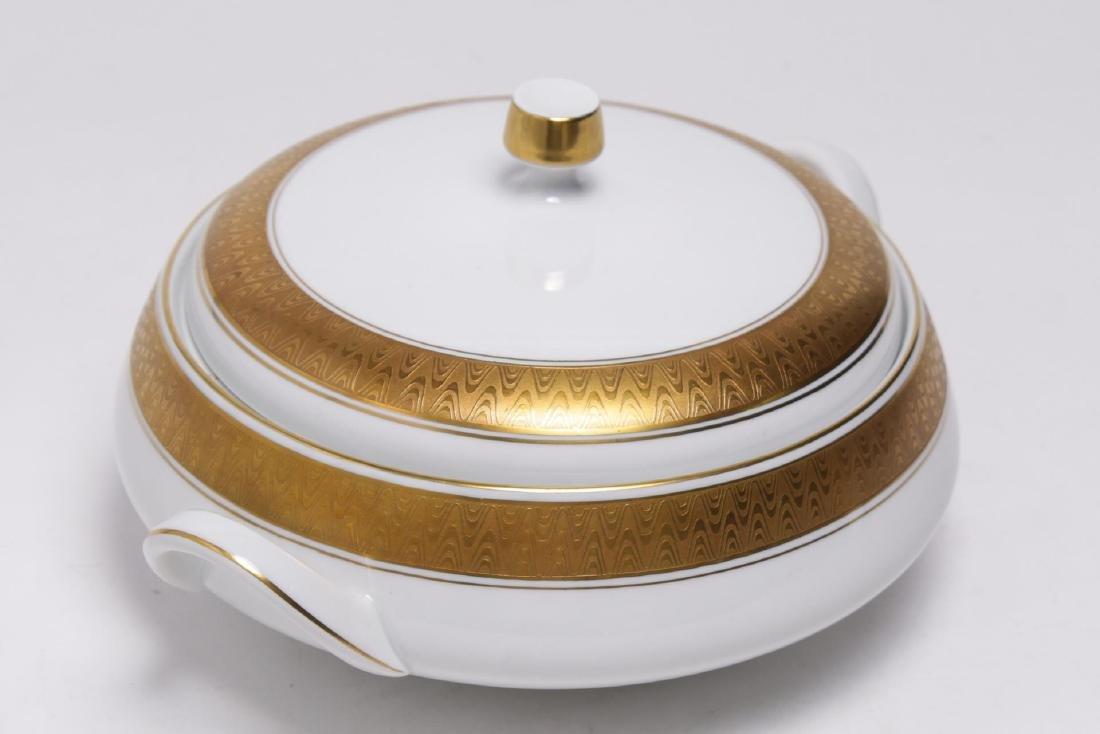 Meissmen German Gilt & White Porcelain Service - 3