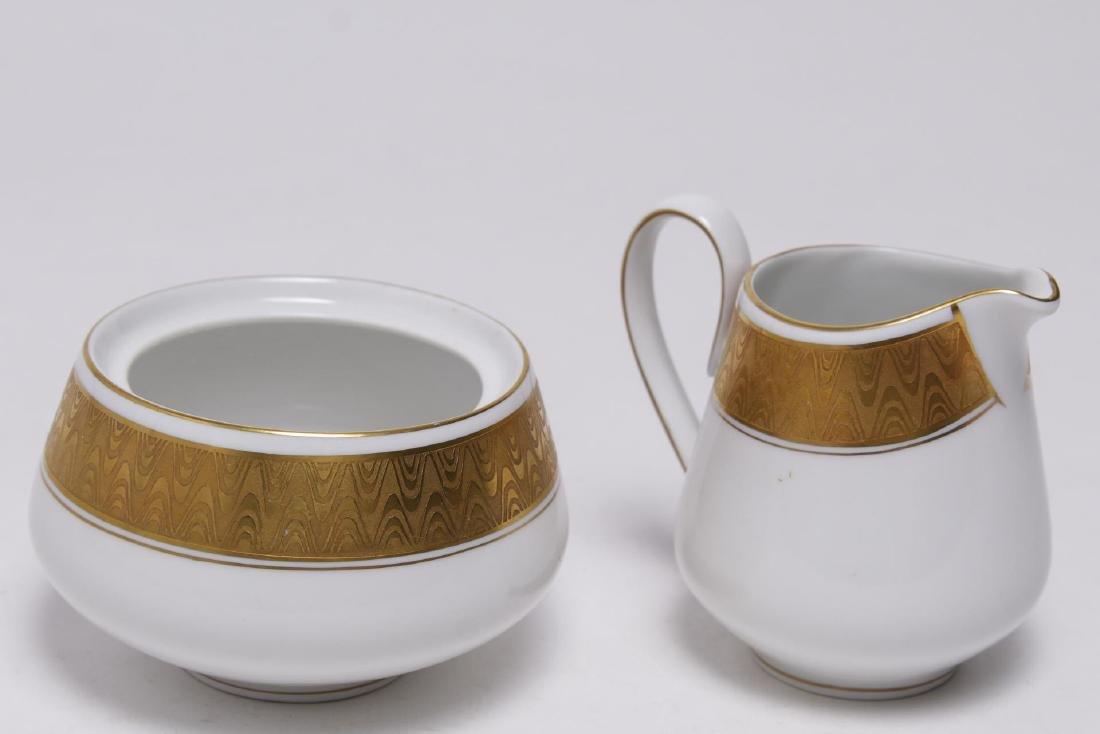 Meissmen German Gilt & White Porcelain Service - 4