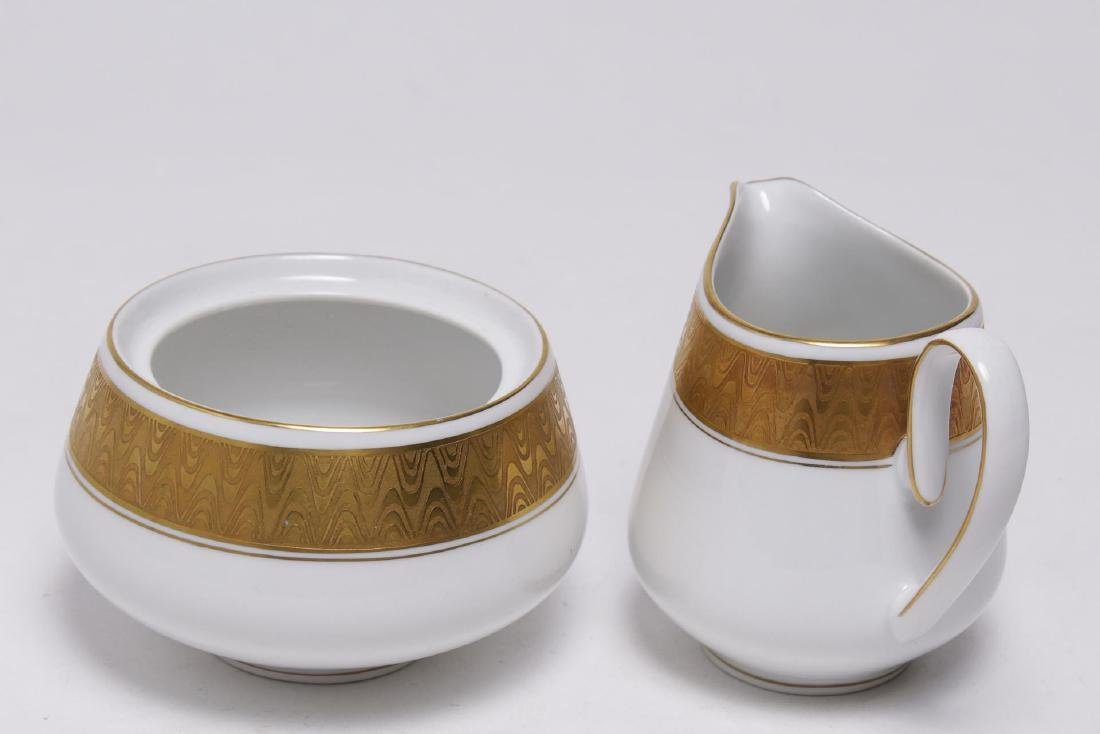 Meissmen German Gilt & White Porcelain Service - 5