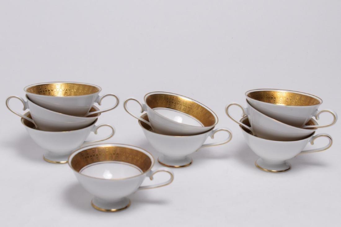 Meissmen German Gilt & White Porcelain Service - 6