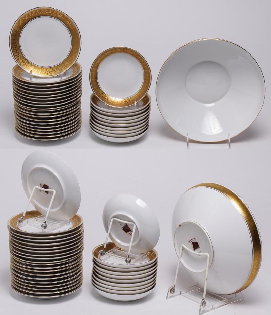 Meissmen German Gilt & White Porcelain Service - 7