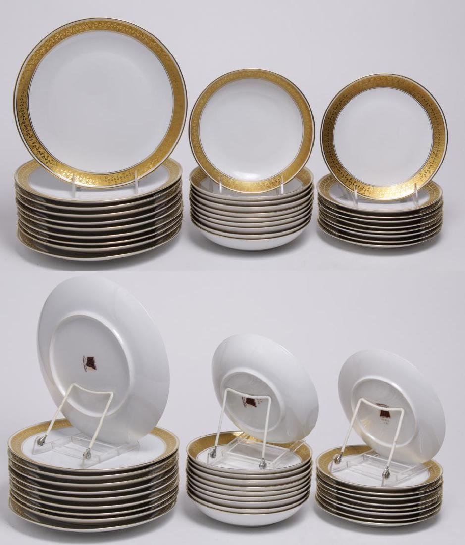 Meissmen German Gilt & White Porcelain Service - 9