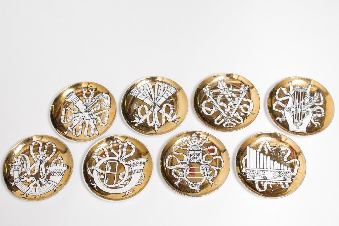 Fornasetti Mid-Century Musicalia Coasters Set of 8