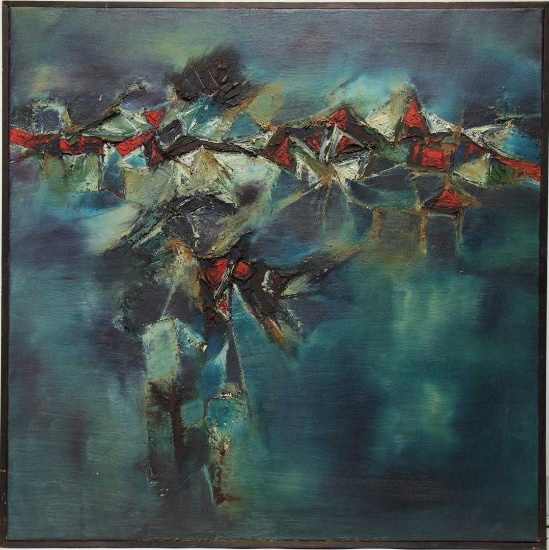 Gulam Rasool Santosh (India, 1929-1997)- Oil
