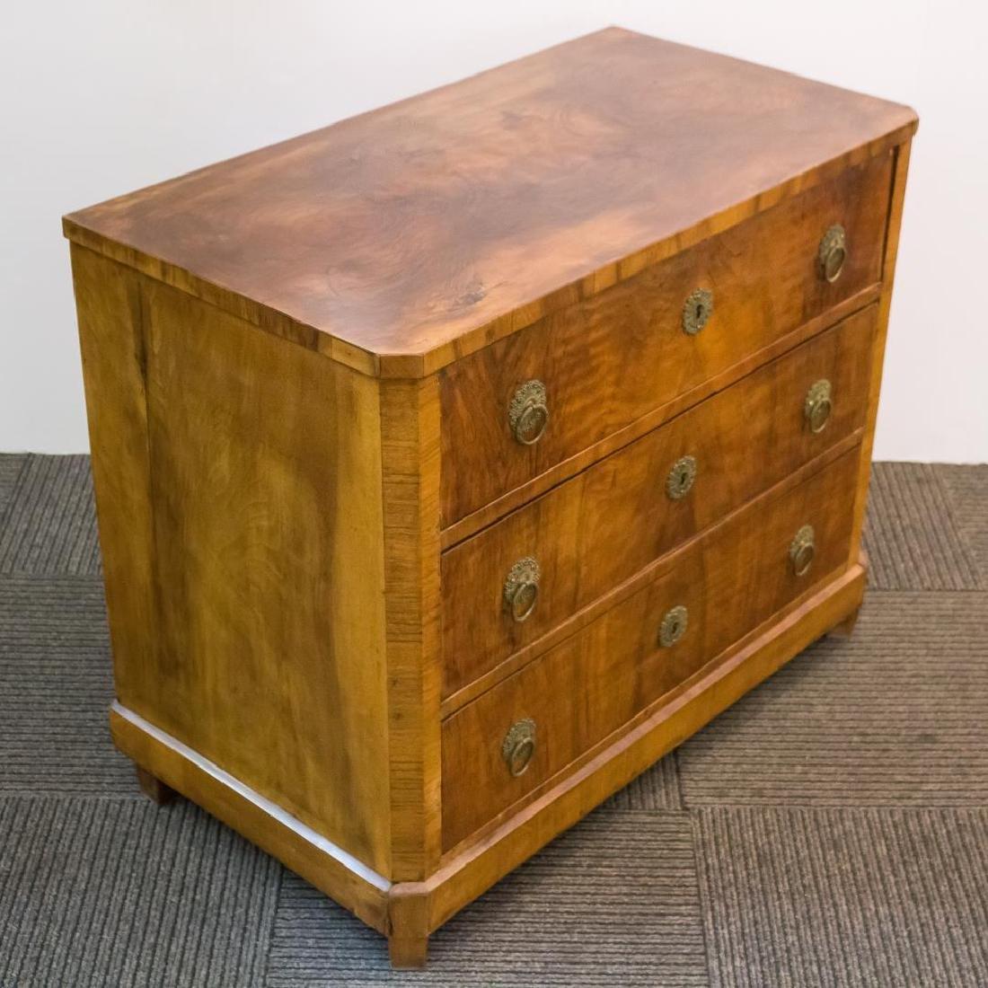 Biedermeier Burlwood Chest of Drawers, Period - 3