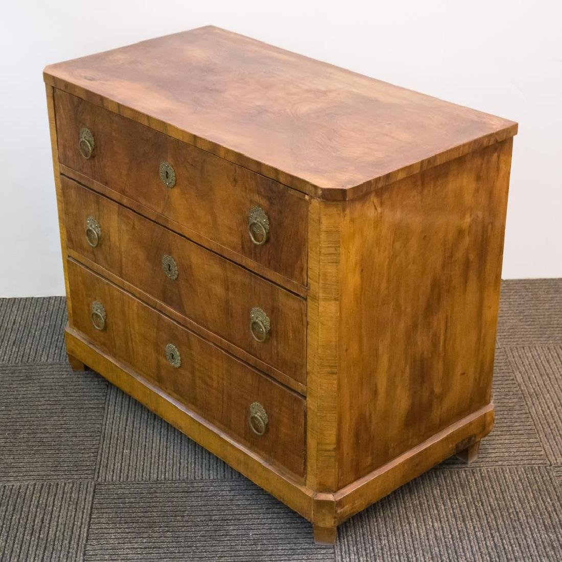 Biedermeier Burlwood Chest of Drawers, Period - 5