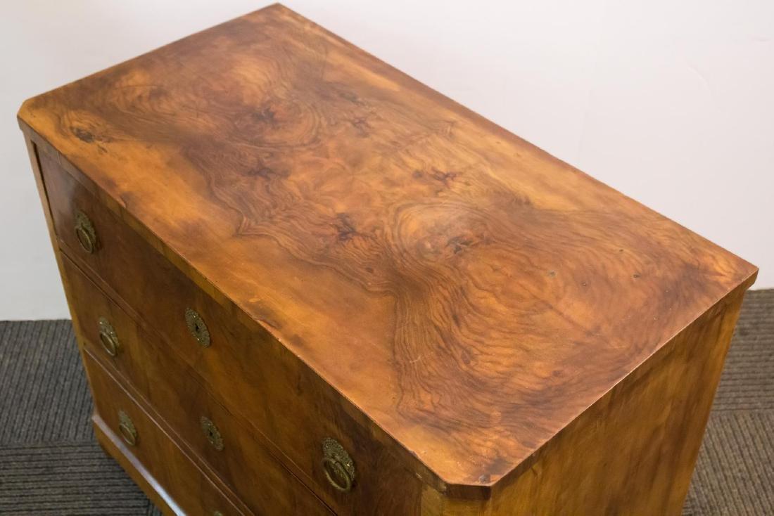 Biedermeier Burlwood Chest of Drawers, Period - 6