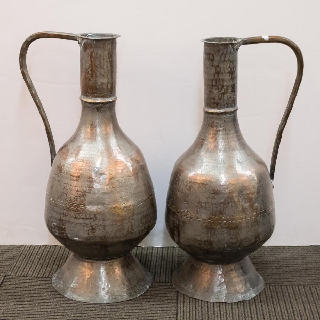 Turkish Monumental Copper Water Pitchers, 2 - 2