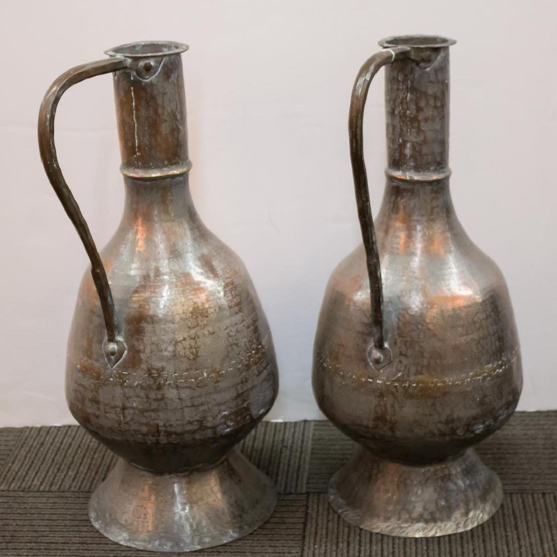 Turkish Monumental Copper Water Pitchers, 2 - 3
