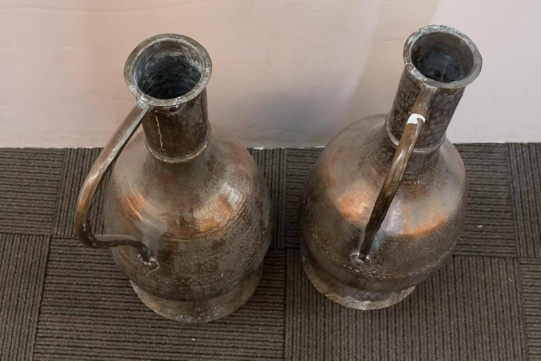 Turkish Monumental Copper Water Pitchers, 2 - 4
