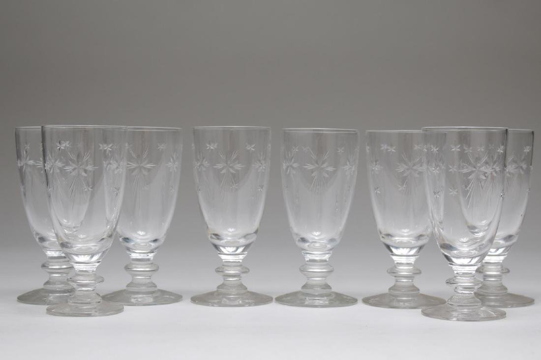 "Mid-Century ""Atomic Star"" Crystal Cordial Glasses"