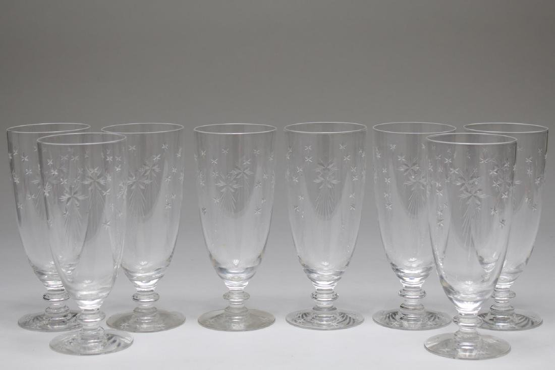 "Mid-Century ""Atomic Star"" Crystal Pilsner Glasses"