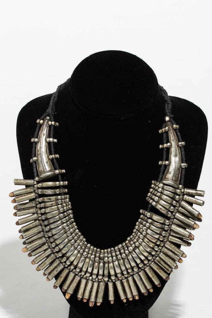 Pakistani Metal Necklace, Fringed, Ethnographic