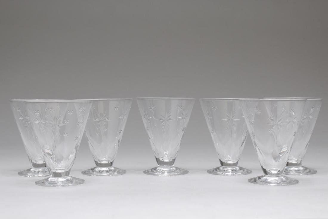 "Mid-Century ""Atomic Star"" Crystal Cocktail Glasses"