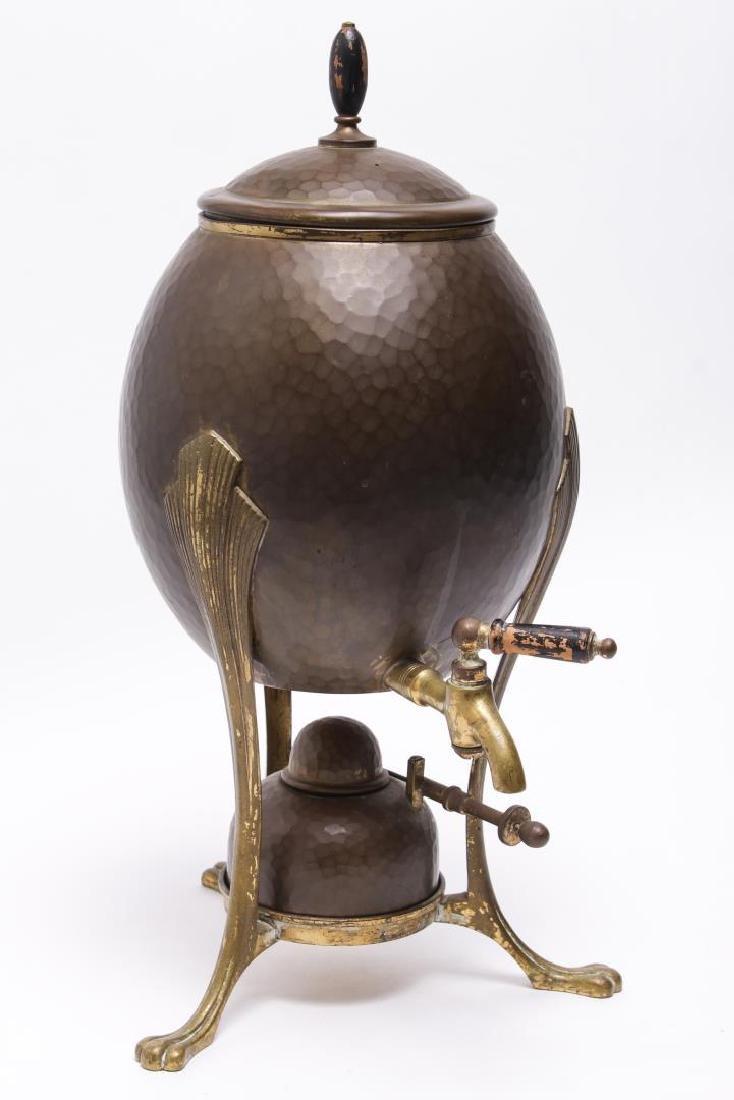 F&R Fischer German Art Nouveau Brass Spirit Kettle