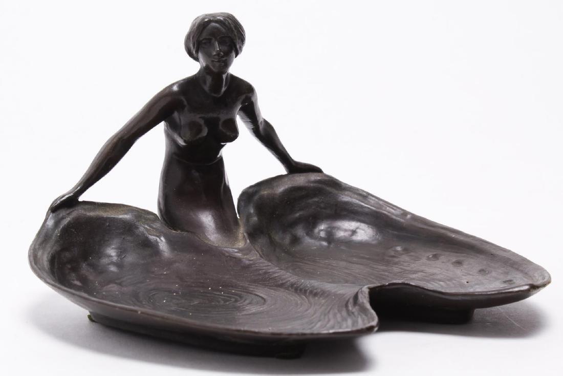 G. Wischner Art Nouveau Vienna Bronze Vide Poche