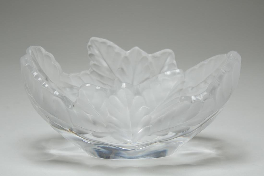 "Lalique ""Compiegne"" Leaf-Edge Crystal Bowl"